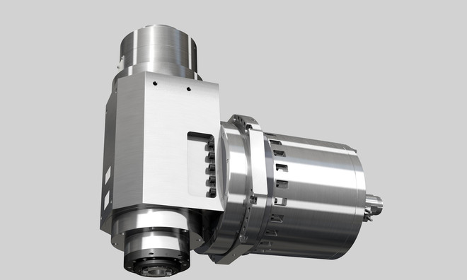 Milling spindle with integrated B-axis