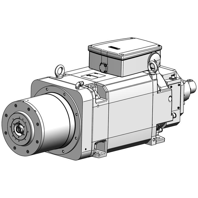 milling spindle F264BAEF0302026AV26-H_12334